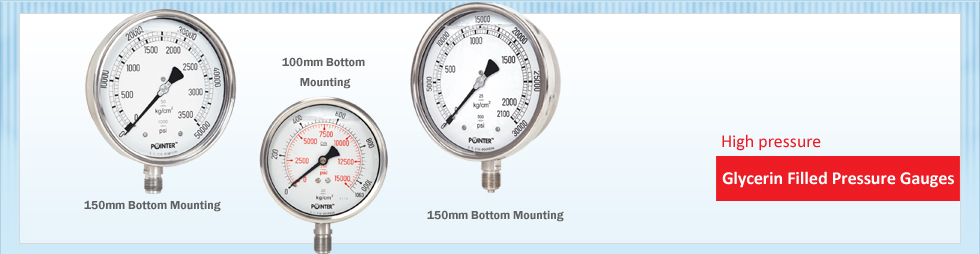 High Pressure Glycerin Filled Pressure Gauge